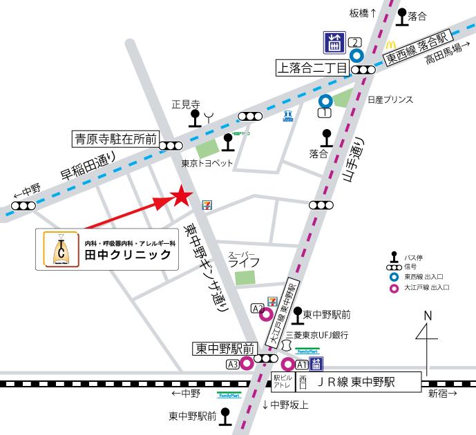田中クリニックマップ